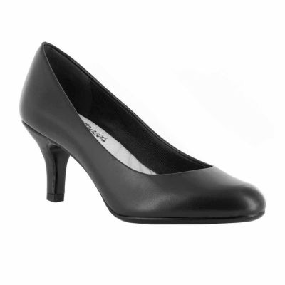 Easy Street Womens Passion Pumps Slip-on Round Toe Spike Heel