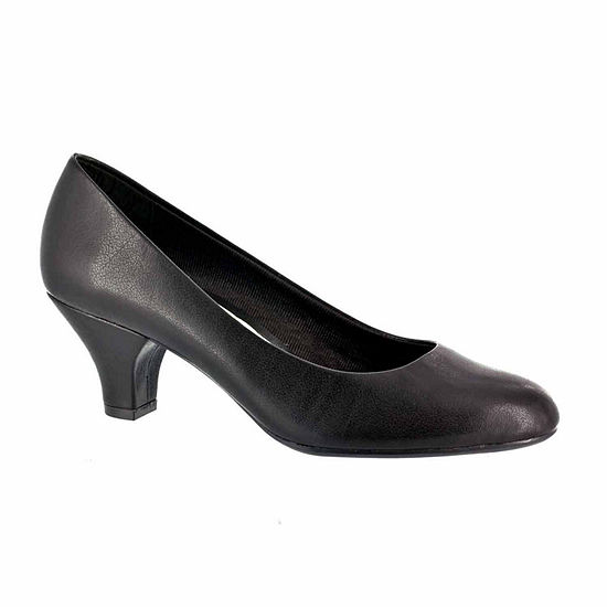 Easy Street Womens Fabulous Pumps Slip-on Round Toe Cone Heel