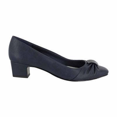 Easy Street Womens Eloise Pumps Slip-on Round Toe Block Heel