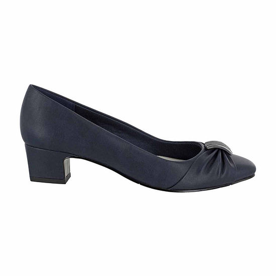 Easy Street Womens Eloise Pumps Slip On Round Toe Block Heel