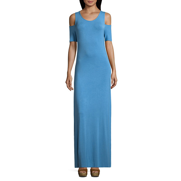 Short Sleeve Tie Dye Maxi Dress