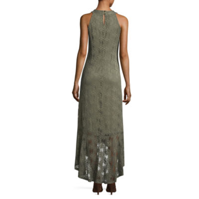 Luxology Sleeveless Diamond Maxi Dress