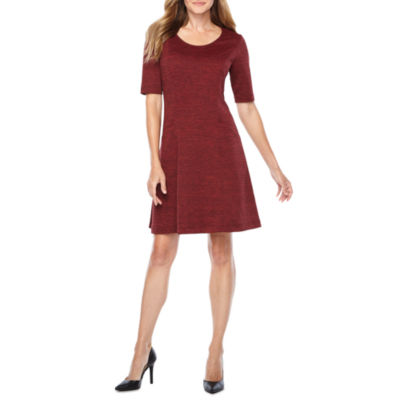 Perceptions Elbow Sleeve Shift Dress