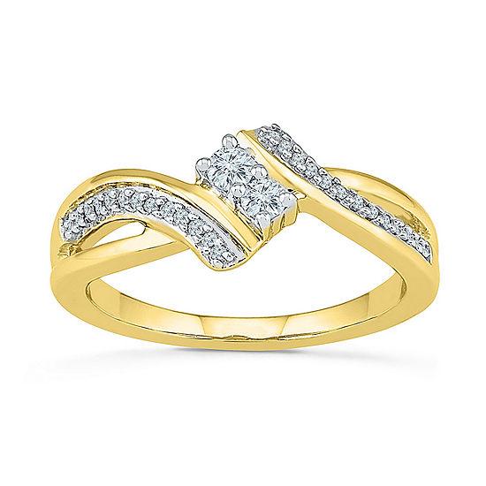 2MM 1/5 CT. T.W. Genuine White Diamond 10K Gold Band
