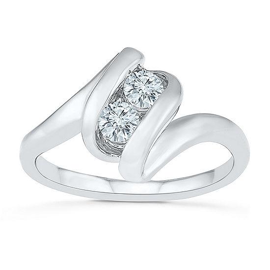2MM 1/3 CT. T.W. Genuine White Diamond 10K Gold Band