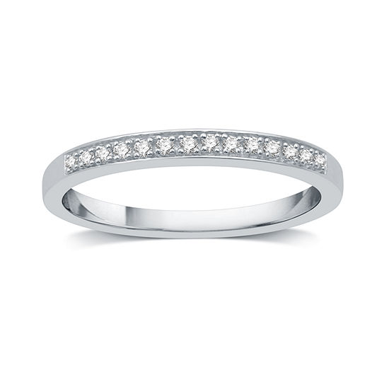 I Said Yes I Said Yes 2MM Diamond Accent Genuine White Diamond Platinaire Wedding Band