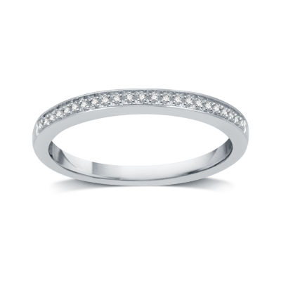 I Said Yes Womens Genuine Diamond Accent Platinaire Wedding Band
