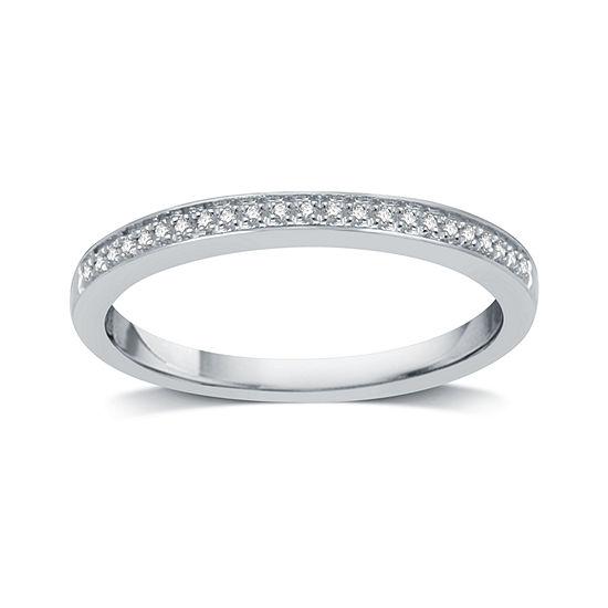I Said Yes Womens Genuine Diamond Accent Platinaire Wedding Band