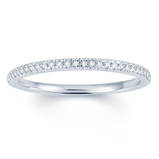 1/10 CT. T.W. Genuine White Diamond 14K Gold Round Wedding Band