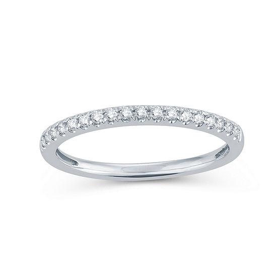Womens 1 5 Ct Tw Genuine White Diamond 14k Gold Round Wedding Band