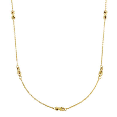 14K Gold 18 Inch Hollow Cable Chain Necklace