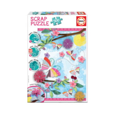 Educa Scrap Puzzle - Garden Art: 500 Pcs