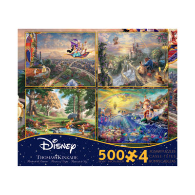 Ceaco Thomas Kinkade Disney Dreams - 4-in-1 JigsawPuzzle Multi-Pack Series 3: 4 x 500 Pcs