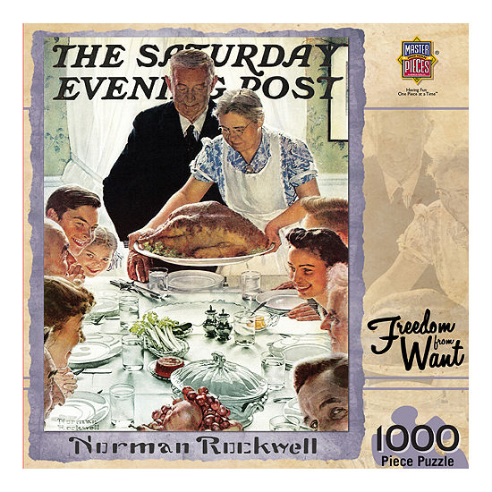 Masterpieces Puzzles The Saturday Evening Post - Freedom from Want: 1000 Pcs