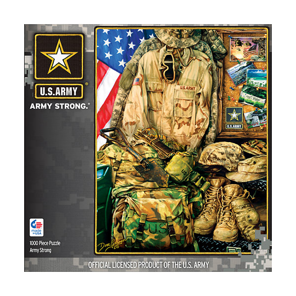 Masterpieces Puzzles Hometown Heroes - Army Strong: 1000 Pcs