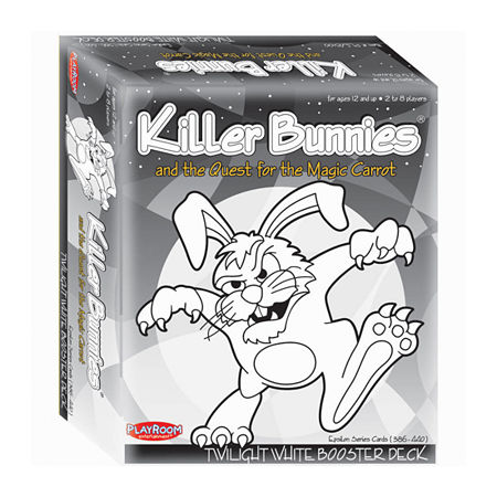 Playroom Entertainment Killer Bunnies and the Quest for the Magic Carrot: Twilight White Booster Deck (7), One Size , Multiple Colors