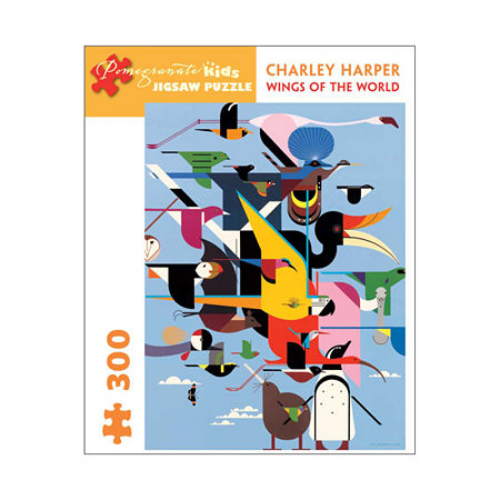 Pomegranate Communications Inc. Charley Harper - Wings of the World Puzzle: 300 Pcs, One Size , Multiple Colors