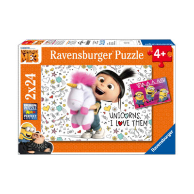 Ravensburger Despicable Me 3 2-in-1 Jigsaw PuzzleMulti-Pack - Agnes and the Minions: 2 x 24 Pcs