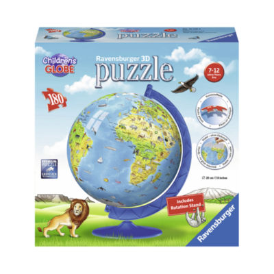 Ravensburger Children's 3D World Globe Puzzle: 180Pcs