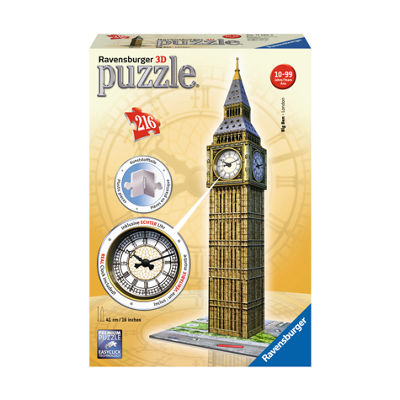 Ravensburger 3D Puzzle - Big Ben with Working Clock: 216 Pcs