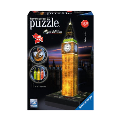 Ravensburger 3D Puzzle - Big Ben - Night Edition:216 Pcs