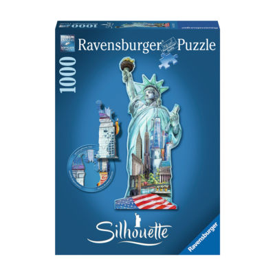 Ravensburger Silhouette Shaped Puzzle - Statue ofLiberty New York: 1000 Pcs