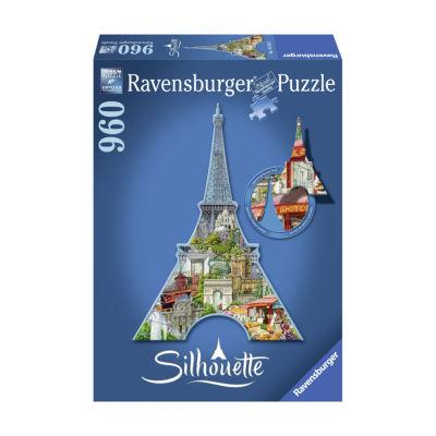 Ravensburger Silhouette Shaped Puzzle - Eiffel Tower Paris: 960 Pcs