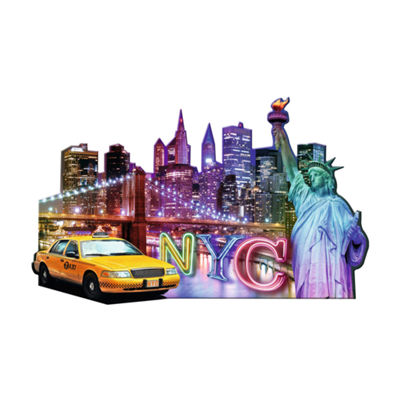 Ravensburger Silhouette Shaped Puzzle - NYC Skyline: 1158 Pcs