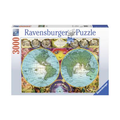 Ravensburger Antique Map: 3000 Pcs