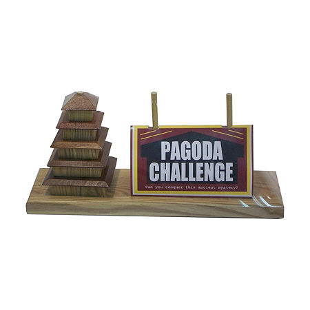 Square Root Pagoda Challenge, One Size , Multiple Colors