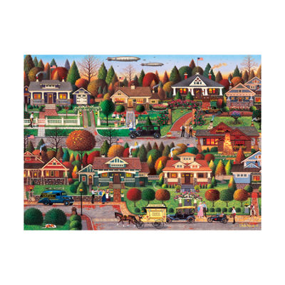 Buffalo Games Charles Wysocki - Labor Day in Bungalowville: 1000 Pcs