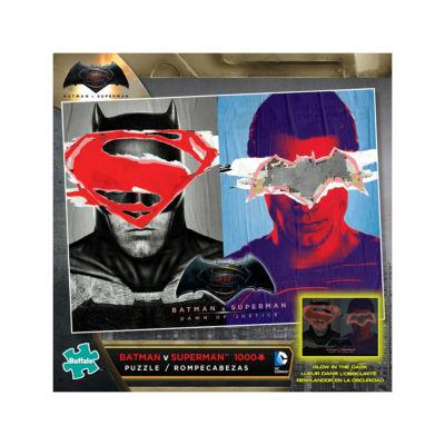 Buffalo Games Batman V Superman Glow-in-the-Dark Jigsaw Puzzle: 1000 Pcs