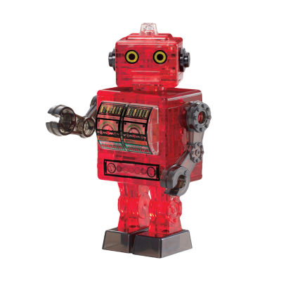 BePuzzled 3D Crystal Puzzle - Robot (Red): 39 Pcs