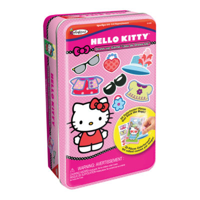 Colorforms Hello Kitty Bilingual Dress-Up Game Tin
