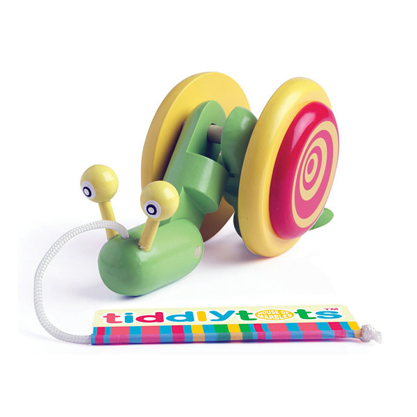 House of Marbles TiddlyTots Giggle Wiggle Snail Wooden Pull-Along Toy