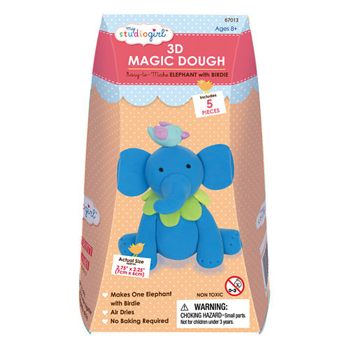 My Studio Girl 3D Magic Dough - Elephant with Birdie