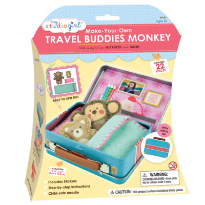 My Studio Girl Make-Your-Own Travel Buddies - Monkey