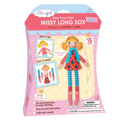 My Studio Girl Sew-Your-Own Missy Long Sox - Lydia(Curly)