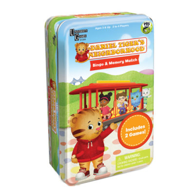 University Games Daniel Tiger's Neighborhood Bingo& Memory Match Tin