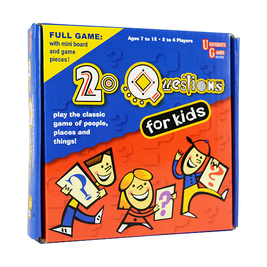 University Games 20 Questions for Kids Pocket Travel Game