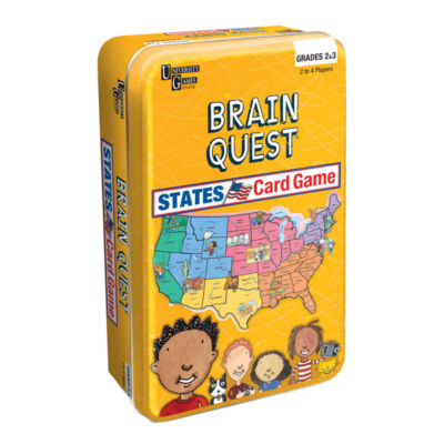 University Games Brain Quest - States Card Game Tin