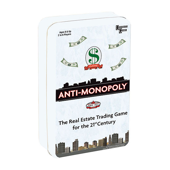 Anti-Monopoly Game Travel Tin