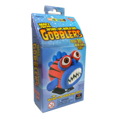 WizzWorx Make Your Own Wind-Up Walking Gobblers -Blue