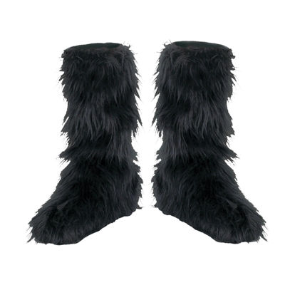 Black Furry Boot Covers Child