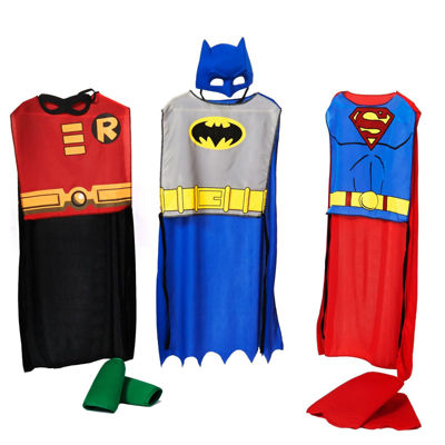 DC Comics Boys Action Trio Set Child Costume