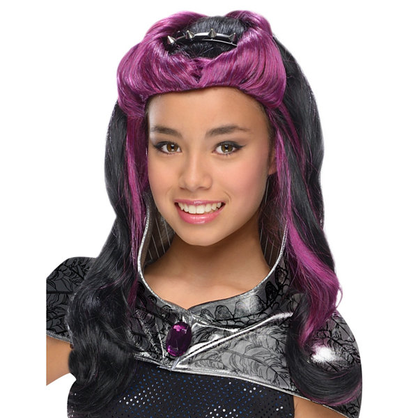 Ever After High   Raven Queen Wig w Headpiece