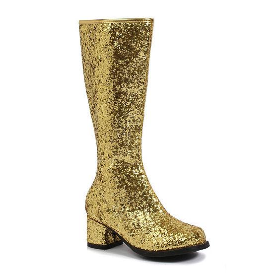 Gold Glitter Child Gogo Boots