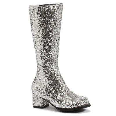 Silver Glitter Child Gogo Boots