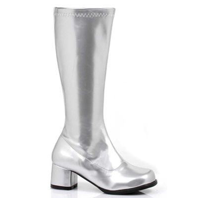 Silver GoGo Boots