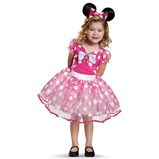 Pink Minnie Mouse Deluxe Tutu Toddler Costume - 3T-4T